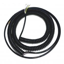 Spiral-Kabel 6 Adern lang